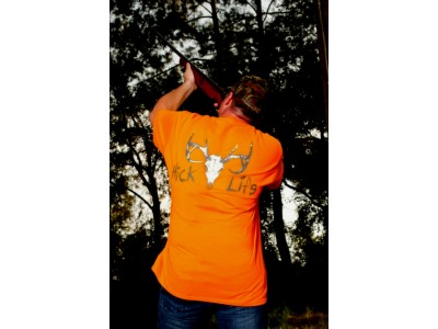 Deer Skull Hick Life (Safety Orange Shirt)