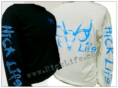 "Hot Blue Deer Skull ""Long Sleeve"" Tee"