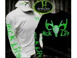 "Deer Skull Neon Green & White ""Long Sleeve"" Tee"