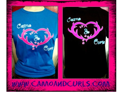 Camo N Curls Youth Tee