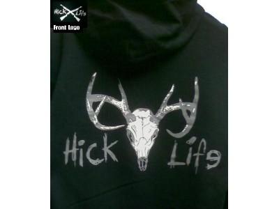 Hooded Deer Skull Sweat Shirt