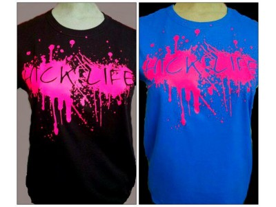 Women's Hot Pink Mud Splat Hick Life Design