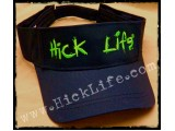 Black Visor Monster Green Embroidery