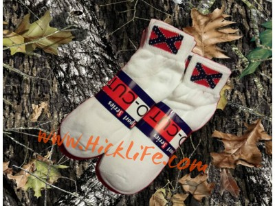 "Confederate ""Quarter"" Socks"
