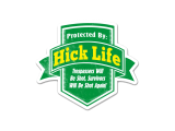 Protected By: Hick Life Die Cut Sticker