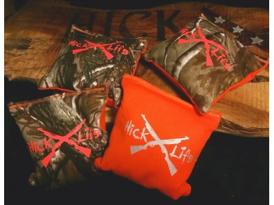 Hick Life Realtree Hunters Orange Corn Hole Bags